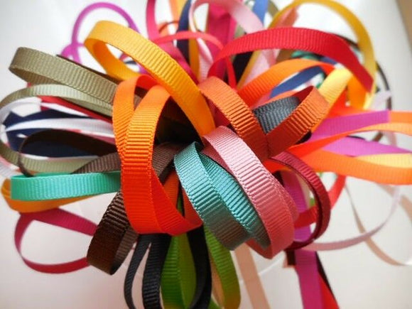 6mm Grosgrain Ribbon Bundle /Pack-10 pieces x 1 metre length-