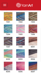 Yarn art Jeans Crazy 50G