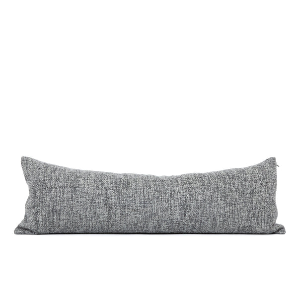 Home goods pillow with designer wool fabric. Charcoal grey heather with a super-soft feel and cozy texture.
