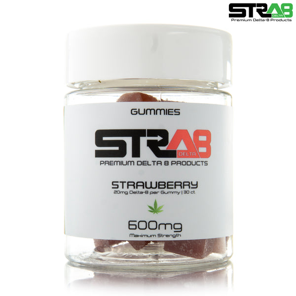 Delta 8 Strawberry Maximum Strength Gummies (SINGLES)