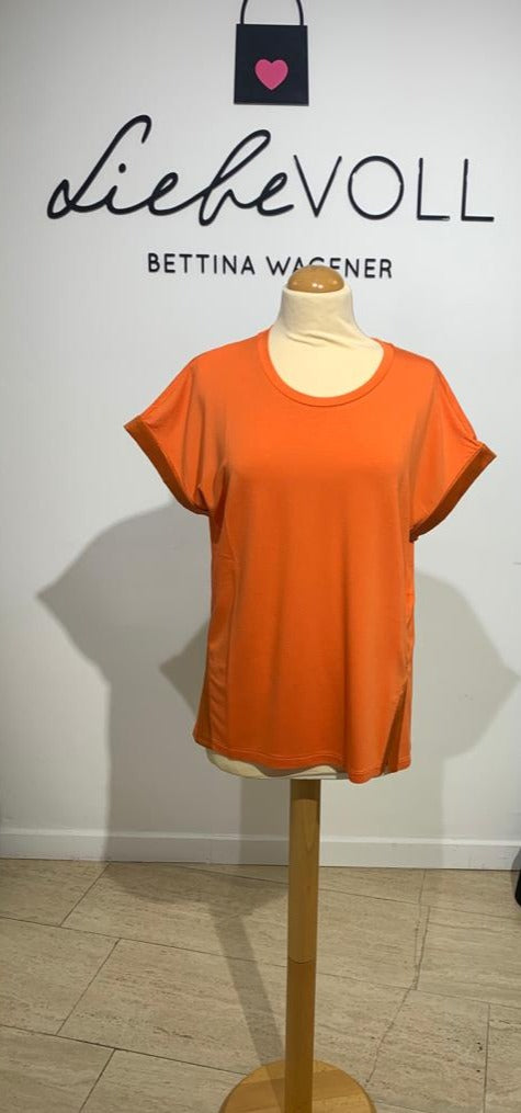 Margittes Damen T-Shirt in orange-Papaya