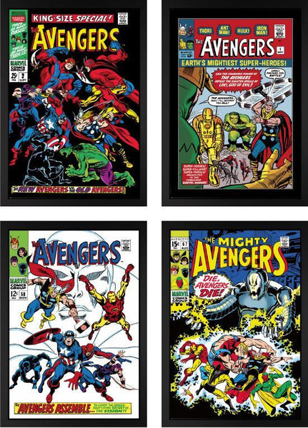 The Mighty Avengers - Set Of Four - 2013 - Stan Lee - Marvel - Antidote Art