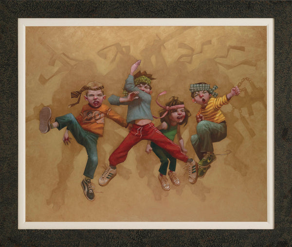 Turtle Power- Canvas On Board - 2013 - Craig Davison - Low Availability, please check before ordering - Antidote Art