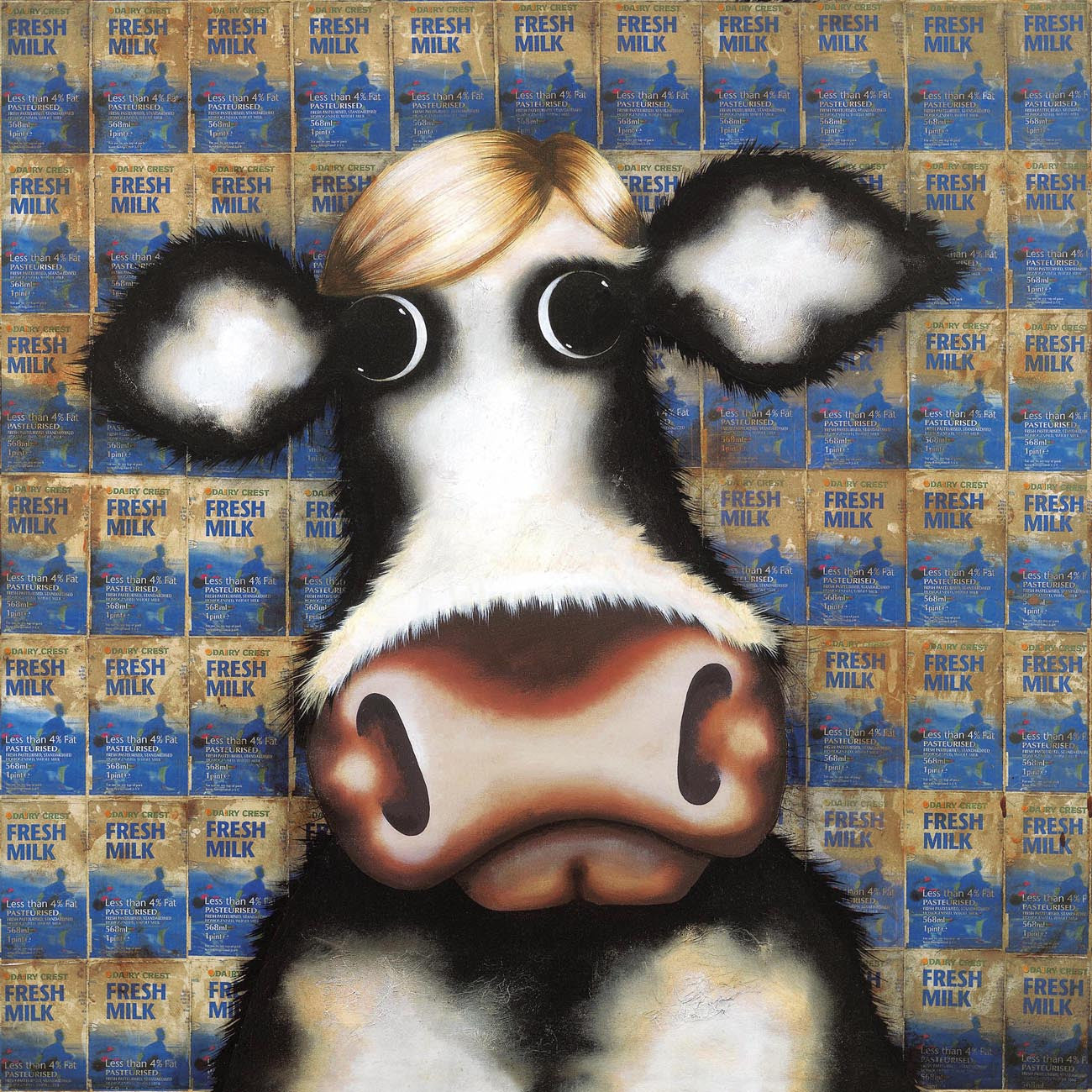 Milk Cartons - Homage To Warhol - 2010 - Caroline Shotton -Low Availability, please check before ordering - Antidote Art