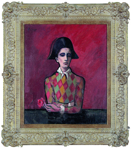 Harlequin With A Rose 1905 - (In the style of Pablo Picasso) - John Myatt - Antidote Art