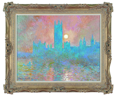 Houses of Parliament 1901 - (In the style of Claude Monet) - John Myatt - Antidote Art