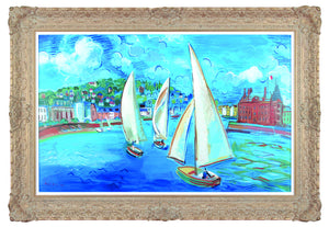 Sailing Boats At Deauville 1933 - (In the style of Raoul Dufy) - John Myatt - Antidote Art