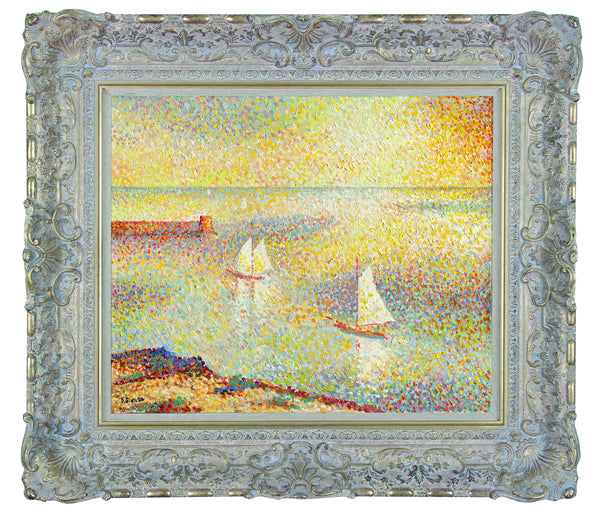 Yachts Entering Harbour - (In the style of Paul Signac) - John Myatt - Antidote Art