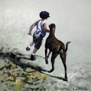 One Man And His Dog - Keith Proctor Original - Antidote Art