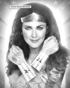 BLACK & WHITE WONDER WOMAN BY JJ ADAMS