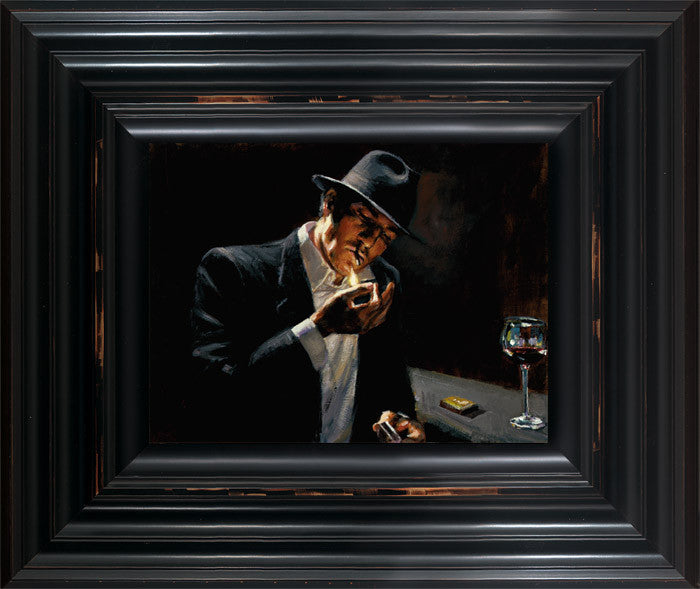 Man Lighting Cigarette - 2014 - Fabian Perez - Antidote Art