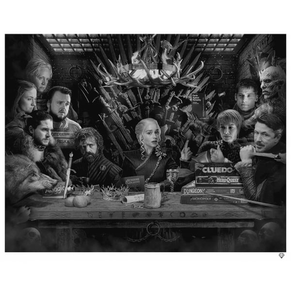 Game of Thrones Board B/W - JJ Adams