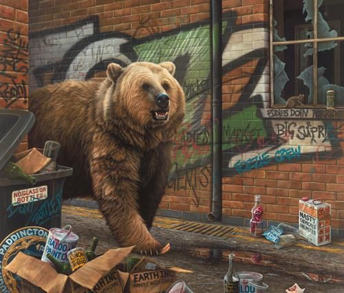 Grizzly on Paper - paul James