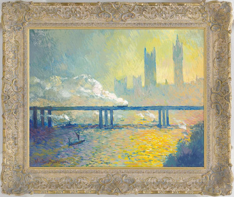 Charing Cross Railway Bridge in the style of Claude Monet – 2012 - John Myatt - Antidote Art