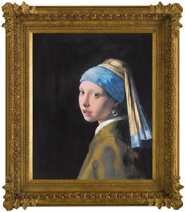 Girl With a Pearl Earring (in the style of Johan Vermeer) – 2012 - John Myatt - Antidote Art