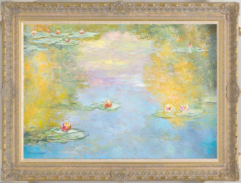 Lillies - Morning Effect (in the style of Claude Monet 1906) – 2012 - John Myatt - Antidote Art