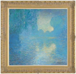 Morning on the Seine, Pale Blue Effect (in the style of Claude Monet) – 2012 - John Myatt - Antidote Art
