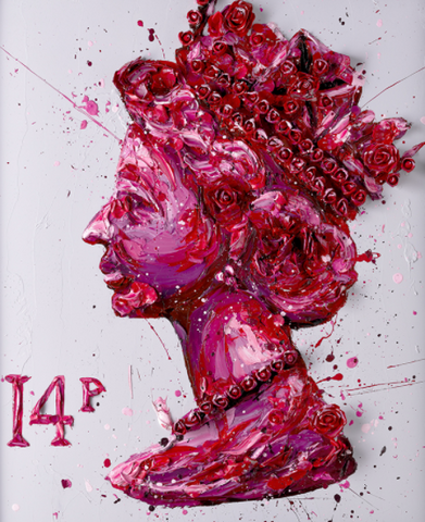 Queen of Roses - Paul Oz - Hand Embellished Canvas