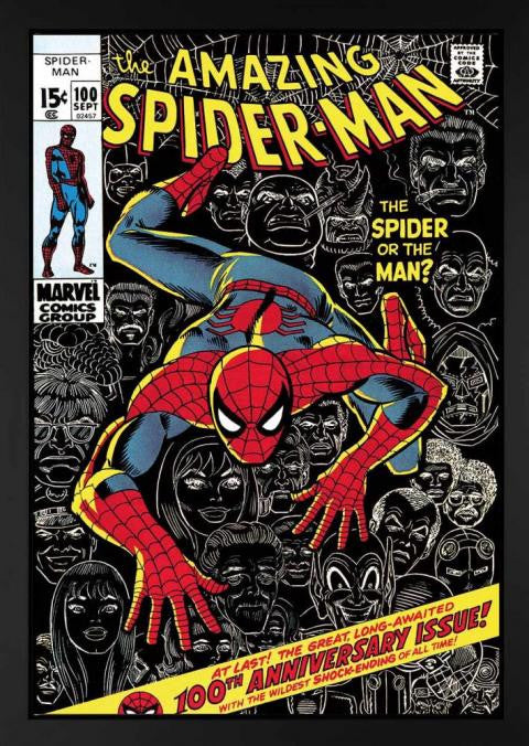 The Amazing Spider-Man #100 - The Spider Or The Man? - 2013 - Boxed Canvas - Stan Lee - Marvel - Antidote Art