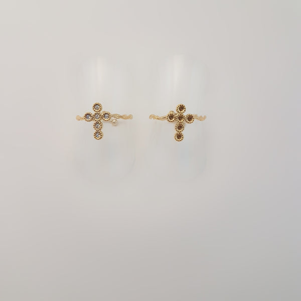CROSS ZIRCONIA RING