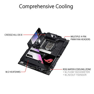 ASUS ROG Maximus XII Formula Intel Z490 LGA 1200 ATX Gaming Motherboard (16 Power Stages, DDR4 4700, EK CrossChill III, Wi-Fi 6, 10 Gbps LAN, Intel 2.5 GB LAN, Triple M.2, OptiMem III, Aura Sync)
