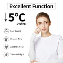 Load image into Gallery viewer, 2 Pairs UV Protection Cooling Arm Sleeves, Sport Arm Compression Sleeves for Women and Men, for Arthritis, Lymphedema, Basketball, Football, Cycling, Outdoor Activities