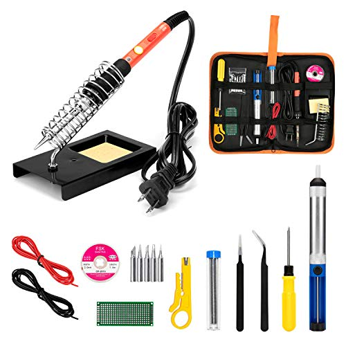 Soldering Iron Kit, 60W Upgraded Soldering Kits Adjustable Temperature