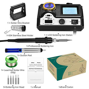 Preciva Soldering Iron Station, 60W Professional Digital Soldering Station, 90-480℃ Temperature Adjustable