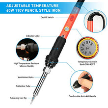 Load image into Gallery viewer, Soldering Iron Kit, 60W Upgraded Soldering Kits Adjustable Temperature