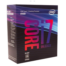 Load image into Gallery viewer, Intel Core i7-8700K Retail - (1151/Hex Core/3.70GHz/12MB/Coffee Lake/95W/Graphics)