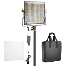 Load image into Gallery viewer, Neewer Bi-color LED 480 Video Light and Stand Kit with Battery and Charger for Studio, YouTube Video Shooting, Durable Metal Frame, Dimmable with U Bracket, 3200-5600K, CRI 96+ (2 Pack)