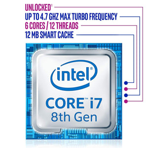 Intel Core i7-8700K Retail - (1151/Hex Core/3.70GHz/12MB/Coffee Lake/95W/Graphics)