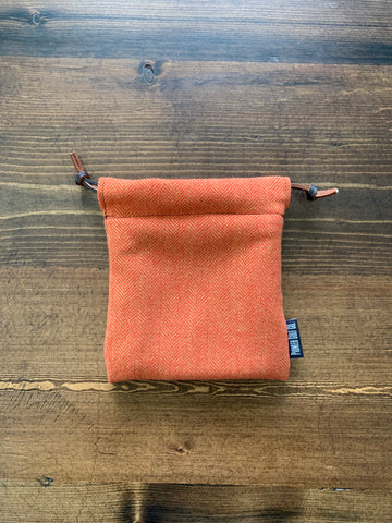 Orange & Gold Herringbone Valuable Pouch