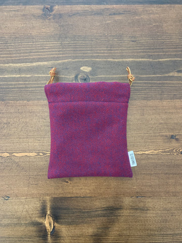 Red & Royal Herringbone Valuable Pouch