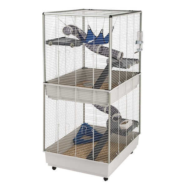 Ferplast Ferret Tower Two-Story Ferret Cage | XXL| Ferret Cage Measures 29.5L x 31.5W x 63.4H - Inches