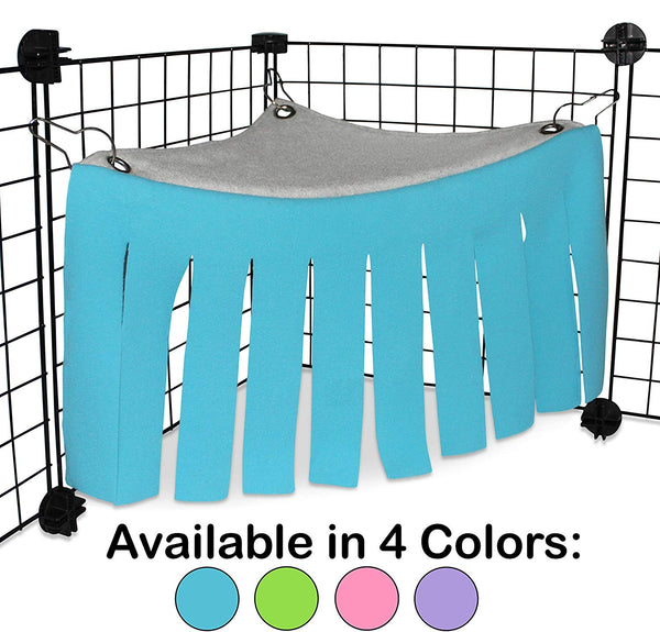 Corner Fleece Forest Hideout for Guinea Pigs, Ferrets, Chinchillas, Hedgehogs, Dwarf Rabbits and Other Small Pets - Accessories and Toys