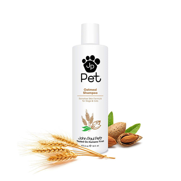 John Paul Pet Oatmeal Shampoo for Dogs and Cats, Sensitive Skin Formula Soothes and Moisturizes Dry Skin and Fur