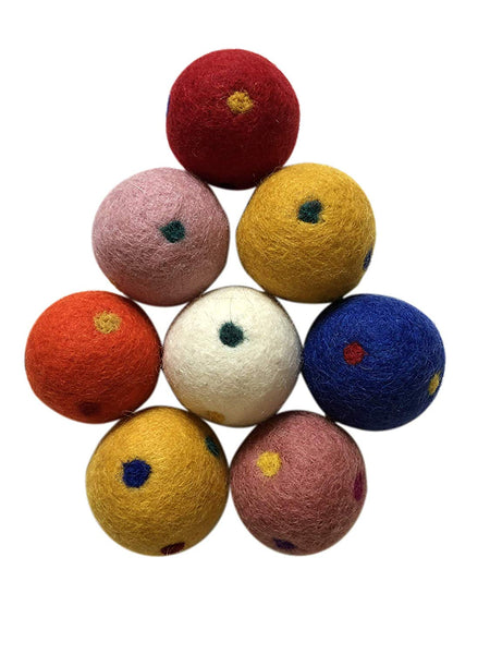 Three Drops of Life Wool Ball Cat Toys, Eco Friendly Safe for Cats Ferrets and Small Animals, Safe Pet Balls for Indoor and Outdoor Use