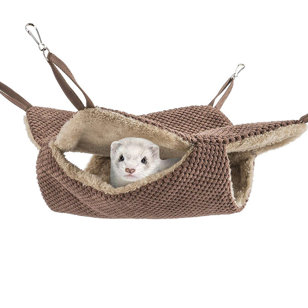 Niteangel Cage Hammock Pet Nap Hanging Bed Accessories Fit 2 Adult Ferrets or 3 More Adult Rats