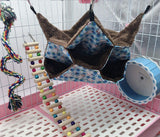 WOWOWMEOW Small Animal Cage Hanging Bunkbed Hammock Warm Fleece Bed for Sugar Glider Ferret Squirrel