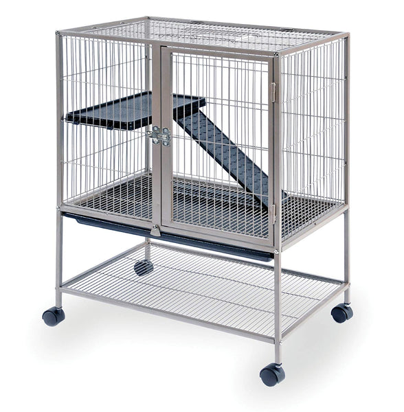 Prevue Frisky Ferret Cage with Stand 486 Coco Brown, 25 x 17.125 x 34 IN