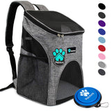 PetAmi Premium Pet Carrier Backpack for Small Cats and Dogs | Ventilated Design, Safety Strap, Buckle Support | Designed for Travel, Hiking & Outdoor Use