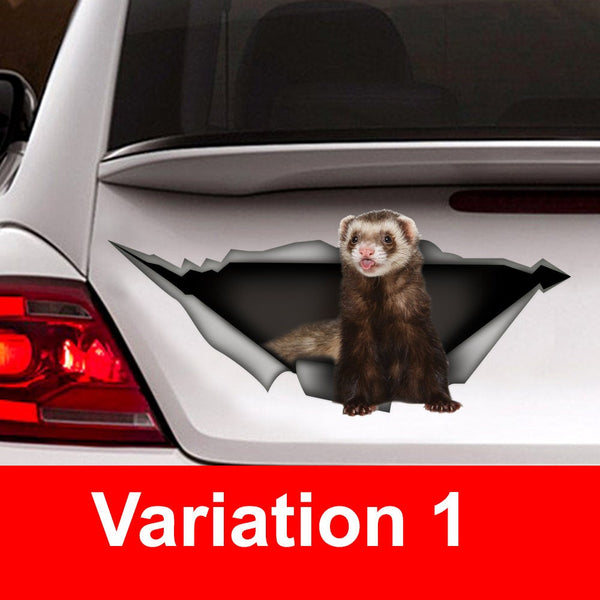 ferret car decal