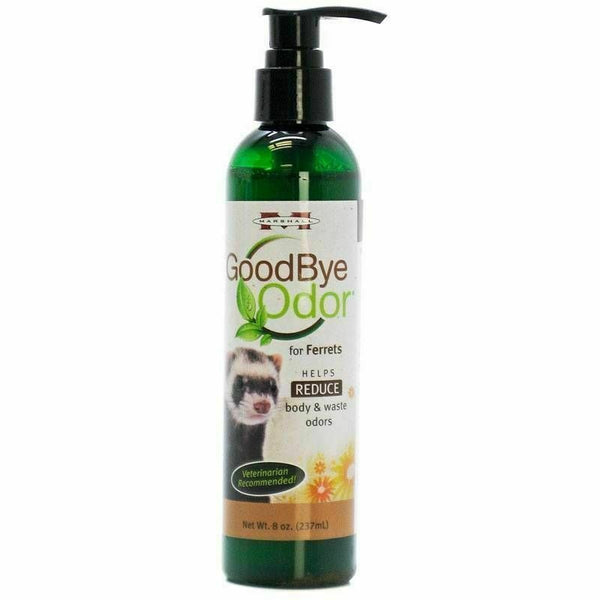 Marshall GoodBye Odor For Ferrets Body & Waste Deodorizer 8 oz All Natural!!