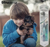Dog & Cat Toothbrush for Small Pet Bamboo Dental Care Soft Charcoal Blue Head