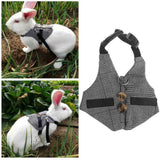 Small Animal Harness & Leash Set Guinea Pig Ferret Hamster Rabbit Squirrel Vest