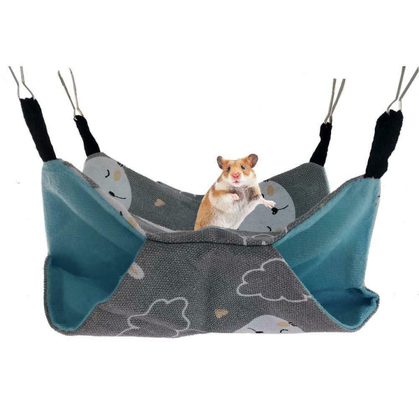 Pet Hammock Ferret Hamster Cushion Rat Guinea Pig Hanging Bed Cave House Toy