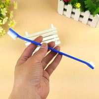 2pcs/lot Double Heads Pet Cat Dog Tooth Brush for Dogs Finger Brush For Pet Dog