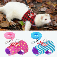 Small Pet Harness Lead Guinea Pig Ferret Hamster Squirrel Rabbit Clothes Cute