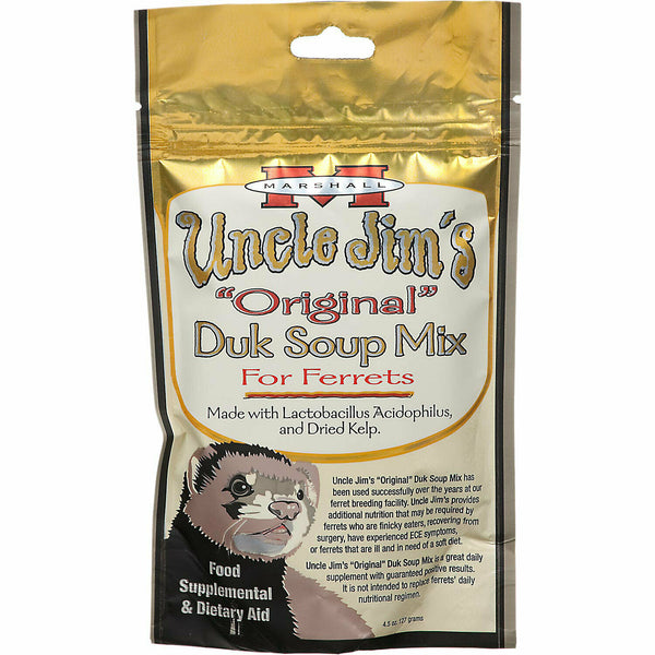 (6 Pack) Marshall Uncle Jim's Duk Soup Mix | Ferrets Daily Supplements 4.5 oz